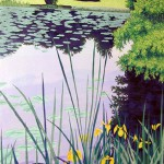 """Paramesium Pond"" - 30"" x 22"" - Reduction Woodcut Print - Gordon Mortensen"