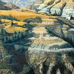 """""""September in Roosevelt Park"""" - 30"""" x 22"""" - Reduction Woodcut Print - Gordon Mortensen"""