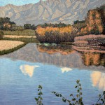 """Verde River""- 32"" x 26"" - Reduction Woodcut Print - Gordon Mortensen"