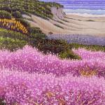 """Carmel Seashore"" - 10"" x 8"" - Reduction Woodcut Print - Gordon Mortensen"