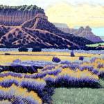 """""""New Mexico"""" - 12"""" x 18"""" - Reduction Woodcut Print - Gordon Mortensen"""
