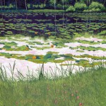 """Evening Pond""- 38"" x 24"" - Reduction Woodcut Print - Gordon Mortensen"