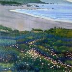 """River Beach"" - 32"" x 26"" - Reduction Woodcut Print - Gordon Mortensen"