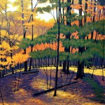 """Wellesley Woods"" - 29"" x 40"" - Reduction Woodcut Print - Gordon Mortensen"