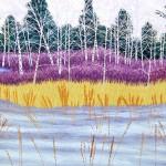 """Canadian Birch"" - 12"" x 18"" - Reduction Woodcut Print - Gordon Mortensen"