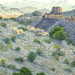 """Desert""- 8"" x 10"" - Reduction Woodcut Print - Gordon Mortensen"