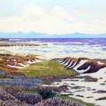 """Moss Beach"" - 8"" x 10"" - Reduction Woodcut Print - Gordon Mortensen"