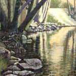 """The Sur""- 10"" x 8"" - Reduction Woodcut Print - Gordon Mortensen"