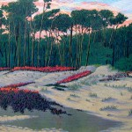 """Evening Dunes""- 8"" x 10"" - Reduction Woodcut Print - Gordon Mortensen"