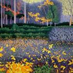 """Autumn Marsh""- 29"" x 40"" - Reduction Woodcut Print - Gordon Mortensen"