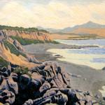 """Jade Beach"" - 8"" x 10"" - Reduction Woodcut Print - Gordon Mortensen"