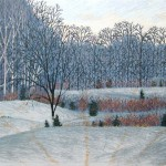 """Sunset"" - 8"" x 10"" - Reduction Woodcut Print - Gordon Mortensen"