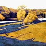 """Autumn Color"" - 22"" x 30"" - Reduction Woodcut Print - Gordon Mortensen"