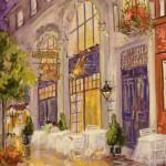 "La Petite Hosteliere - 12"" x 9"" - Oil - Dorothy Spangler"