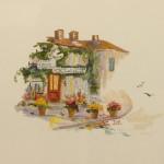 """Vignette of Ganne Inn Barbizon Museum - 9.5"""" x 10"""" - Oil - Dorothy Spangler"""
