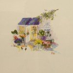 """Vignette of Sausalito Flower Shop - 9.5"""" x 10"""" - Oil - Dorothy Spangler"""