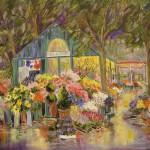 "Place de Terms - 30"" x 40"" - Oil - Dorothy Spangler"