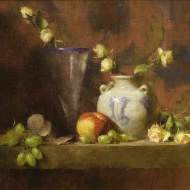 David Riedel - Libby's Vase - Oil - 13 x 17