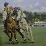 "Gullwing at the Polo - 39"" x 39"" - Oil - Peter Hearsey"