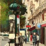 "Parisians on St.Germain - 12"" x 16"" - Oil on Canvas - Philippe Gandiol"