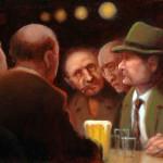 """Bowrey Boys"" - 12"" x 16"" - Oil - Richard Lithgow"