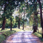 "ALONG APPLE COLONY RD MT ZION - 9"" X 12"" - Oil on Canvas - Barbara Conley"