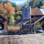 "CHITWOOD BRIDGE OREGON - 12"" X 24"" - Oil on Canvas - Barbara Conley"