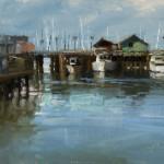 """The Wharf - 9"""" x 12"""" - Oil - Jason Sacran"""