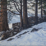 """Silver Lake #2 - 9"""" x 12"""" - Oil on Canvas - Barbara Conely"""