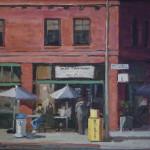 "Cafe Francisco - 11"" x 14"" - Oil on Canvas - Philippe Gandiol"