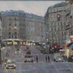 "Crossing at Dusk - 16"" x 20"" - Oil on Canvas - Philippe Gandiol"