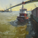 "Tug - 16"" x 20"" - Oil on Linen - Nancy Crookston"