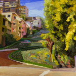 "Lombard Street - 30"" x 40 - Oil on Canvas Panel - Russ Wagner"