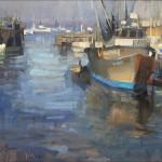 """Monterey Docks - 14"""" x 18"""" - Oil - John Lasater"""