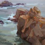 "Garrapata Rocks - 11"" x 14"" - Oil - John Lasater"