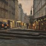 "Hurried Man - 18"" x 24"" - Oil on Canvas - Philippe Gandiol"