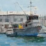 "Shrimp Fishing - 9"" x 12"" - Oil on Canvas - Philippe Gandiol"