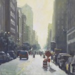 "Road Block - 30"" x 30"" - Oil on Board - Richard Boyer"