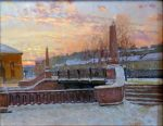 """Morning in St. Petersburg - 24"""" x 30"""" - Oil on Canvas - Aleksander Titovets"""