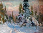 """Way to the Top - 11"""" x 14"""" - Oil on Canvas - Aleksander Titovets"""