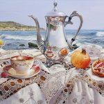 "Extravagant Affair - 22"" x 39"" - Oil on Canvas - Marc Esteve"
