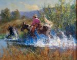 "Out Of The Way - 16"" x 20"" - Oil on Canvas - Robert Hagan"