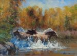 "Good Company - 18"" x 24"" - Oil on Canvas - Robert Hagan"