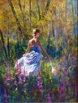 "Among The Aspens - 40"" x 30"" - Oil on Canvas - Robert Hagan"