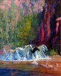 "Red Canyon - 16"" x 20"" - Oil On Canvas - Robert Hagan"