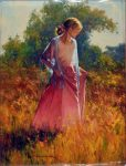 "Girl In Pink - 40"" x 30"" - Oil on Canvas - Robert Hagan"