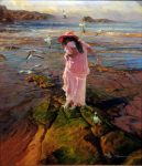 "Delicate Step - 40"" x 30"" - Oil on Canvas - Robert Hagan"