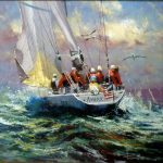 "Americas Three - 24"" x 24"" - Oil on Canvas - Robert Hagan"