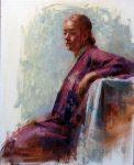 "Girl in Kimono - 20"" x 16"" - Oil on Canvas - Tae Park"