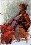 "Figure #10 - 16"" x 12"" - Oil on Canvas - Tae Park"